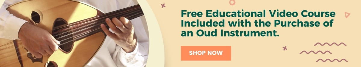 Advertisement - Free Educational Video Course Included with purchase of an Oud Instrument